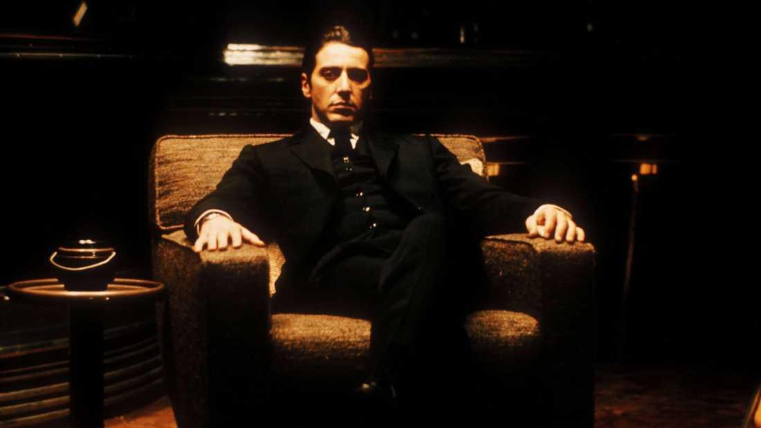"Al Pacino i ""Gudfadern del II"" (1974)."