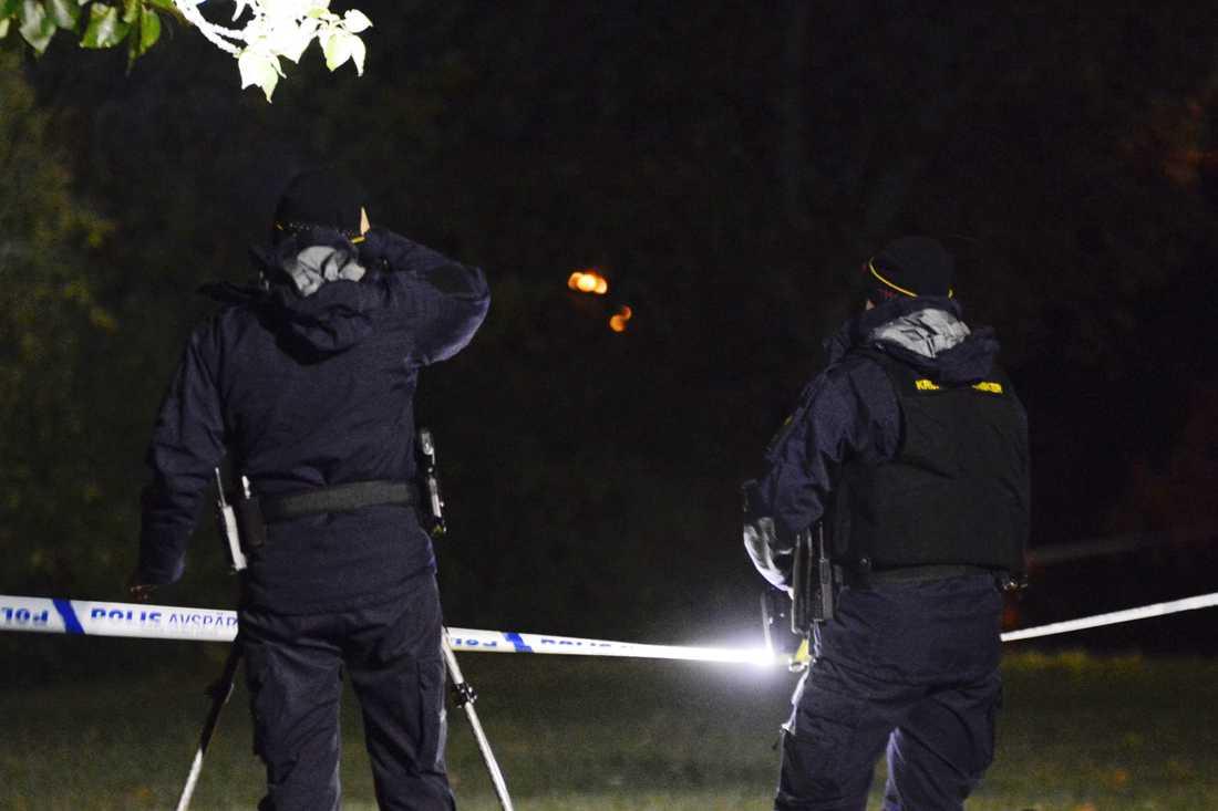 Den tekniska undersökningen i Sigtuna kommun pågick under natten.