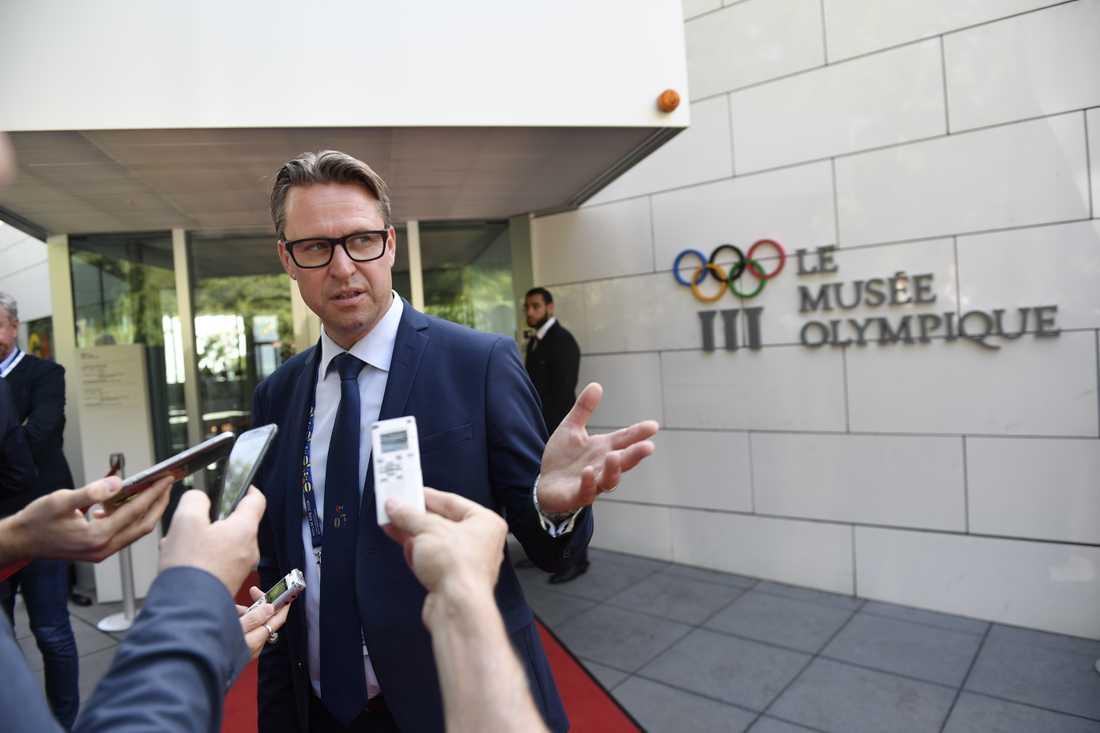 Mats Årjes valdes om till ordförande i Sveriges olympiska kommitté. Arkivbild.