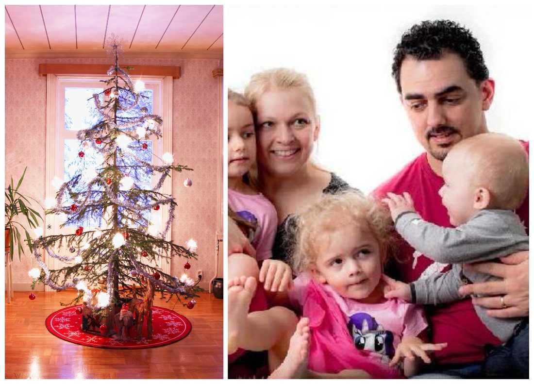 Familjen Isso fick inte julklapparna till sina barn i tid innan julafton.