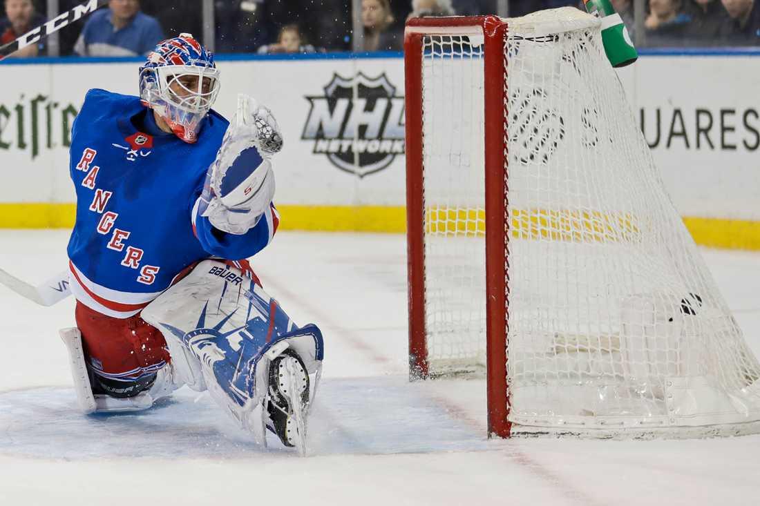 Henrik Lundqvist i New York Rangers-tröjan. Arkivbild.