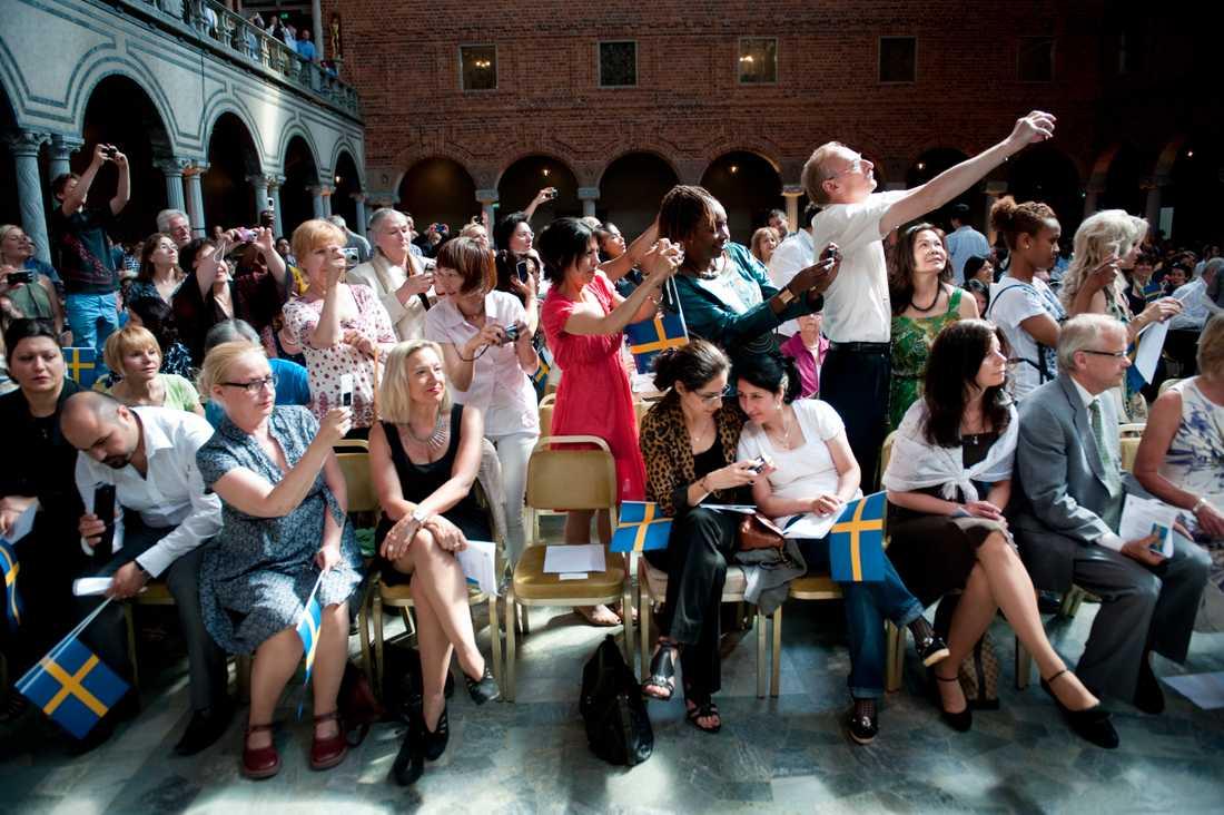 Sölvesborg kommer trots allt att hålla en medborgarskapsceremoni i år. Arkivbild från motsvarande evenemang i Stockholm.