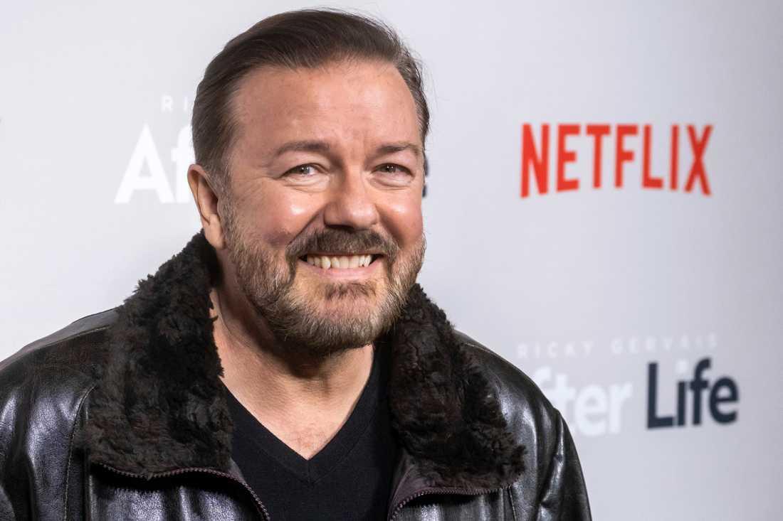 """Ricky Gervais börjar snart filma den avslutande säsongen av """"After life"""". Arkivbild."""