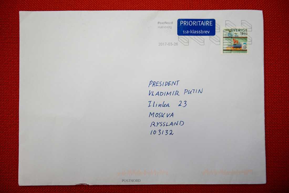 Brevet som skulle till Putin men hamnade hos Per.