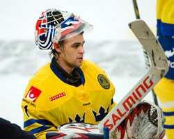 Svenske hockeyspelaren Stefan Liv.