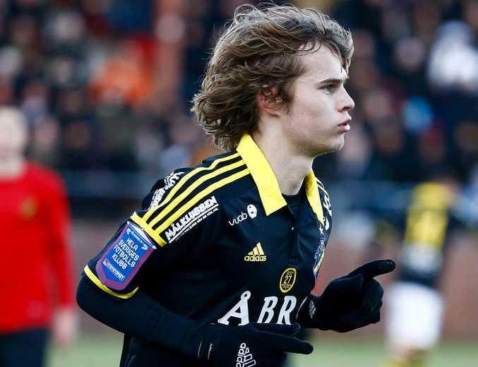 Sam Lundholm gjorde mål för AIK men laget förlorade.