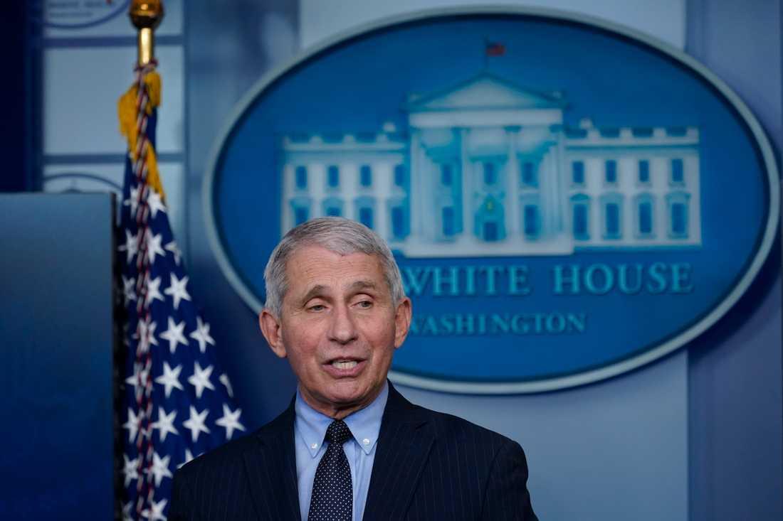 Smittskyddsexperten Anthony Fauci är tillbaka i Vita huset.