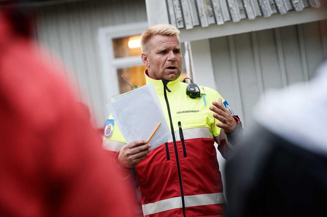 Rickard Svedjesten, fjällräddare från Jämtland.