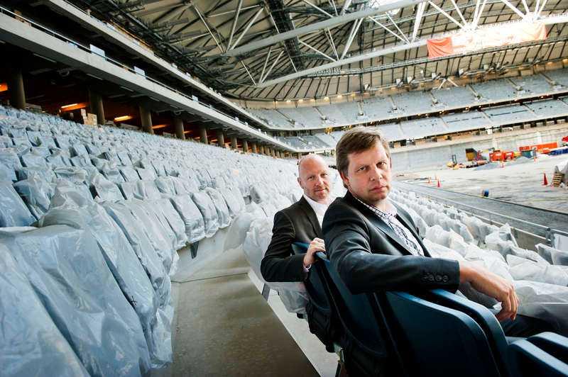 AIK:s vd Thomas Edselius och Johan Strömberg, ordförande AIK fotboll.