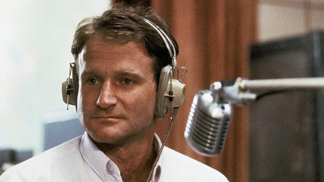 "Robin Williams som Adrian Cronauer i ""Good Morning Vietnam""."