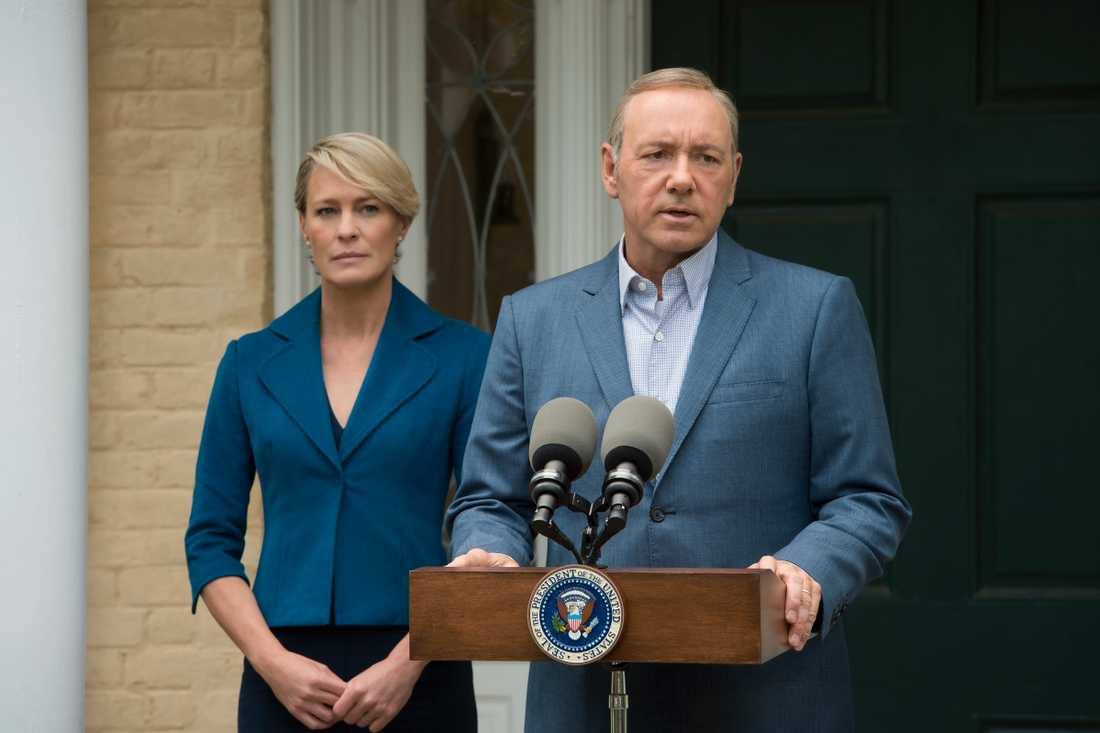 """Robin Wright och Kevin Spacey i """"House of cards""""."""