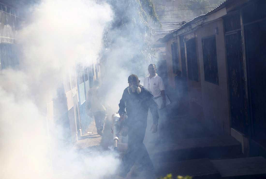 Även myndighetspersonal i Honduras utför samma säkerhetsprocedur.