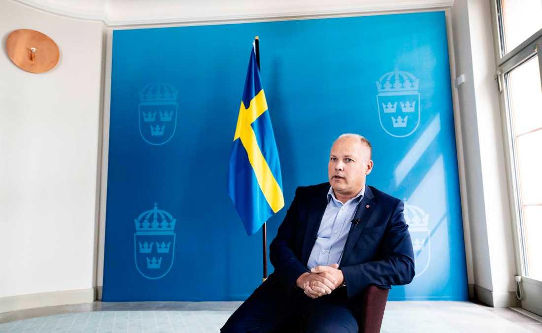 Jusititeminister Morgan Johansson.