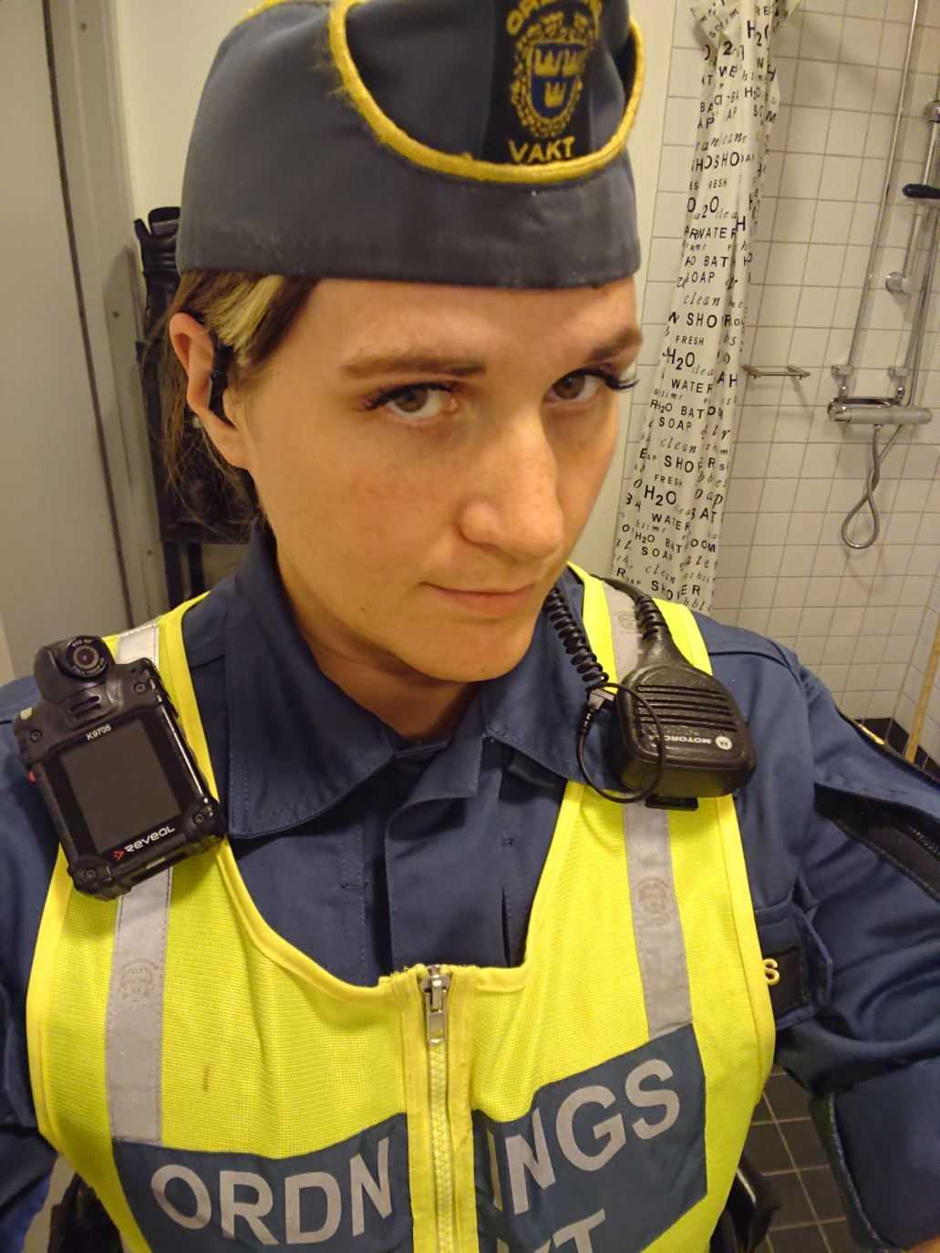 Ordningsvakt Tina Brindstedt.