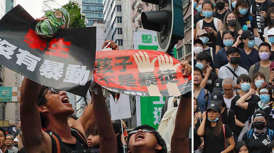 Demonstrationerna närmar sig nu ett avgörande skede. Ingen vill bli nästa Gui Minhai, eller någon av alla andra människor som har fängslats i Kina eller utanför, skriver Dawn Wong och Kanice Yan. Bilderna är från förra veckans demonstrationer.