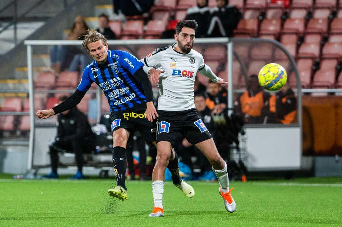 ÖSK:s Nahir Besara (höger) hade ett par målchanser men varken han eller någon annan på Behrn arena gjorde mål.