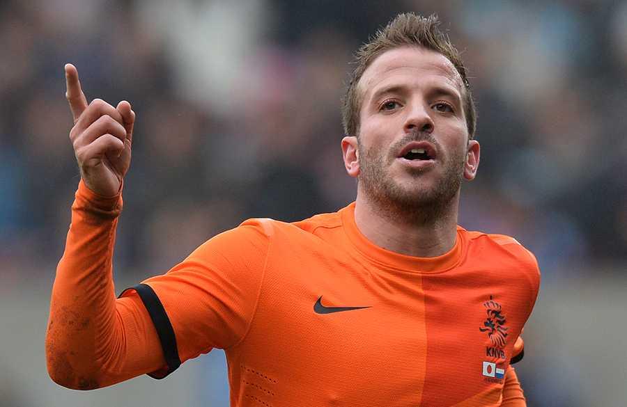 Van der Vaart i det holländska landslaget.