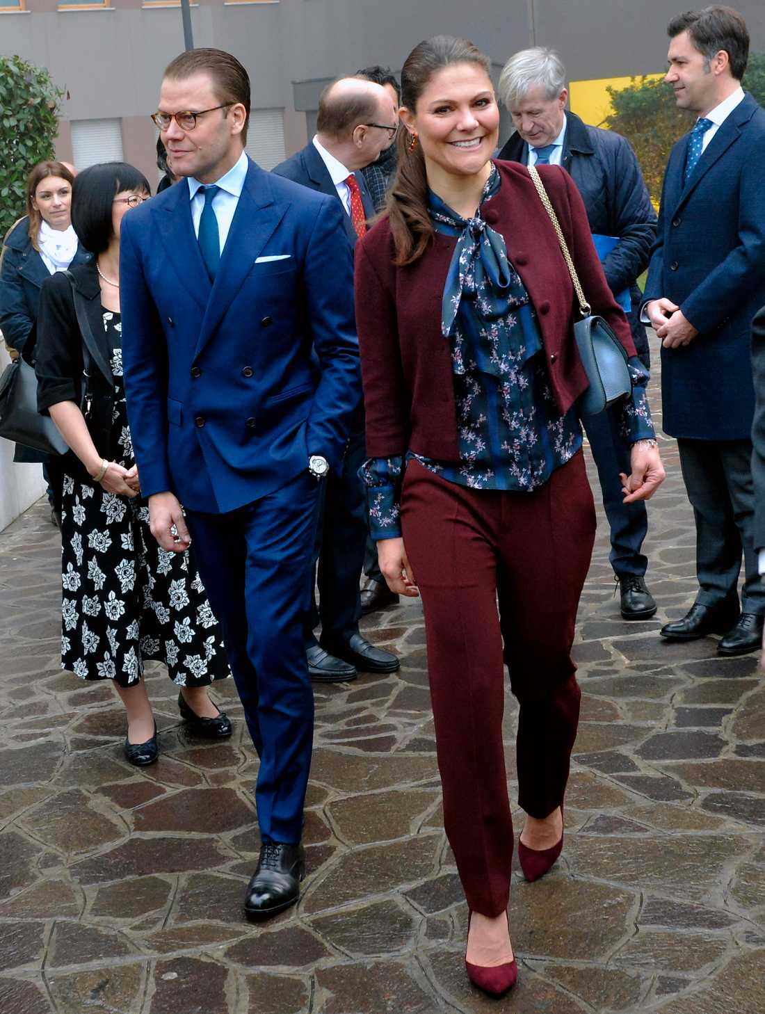 Victoria och Daniel på officiellt besök i Italien i december.