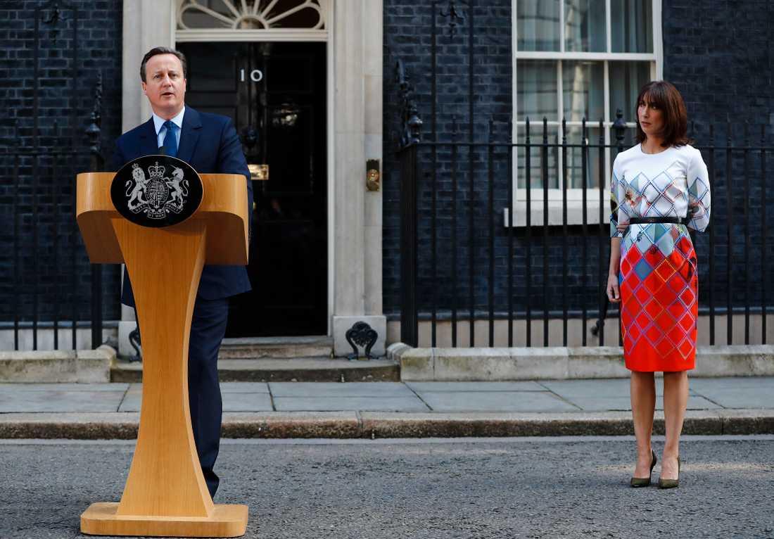 David Cameron höll under fredagsförmiddagen ett tal där han meddelade sin avgång i oktober.