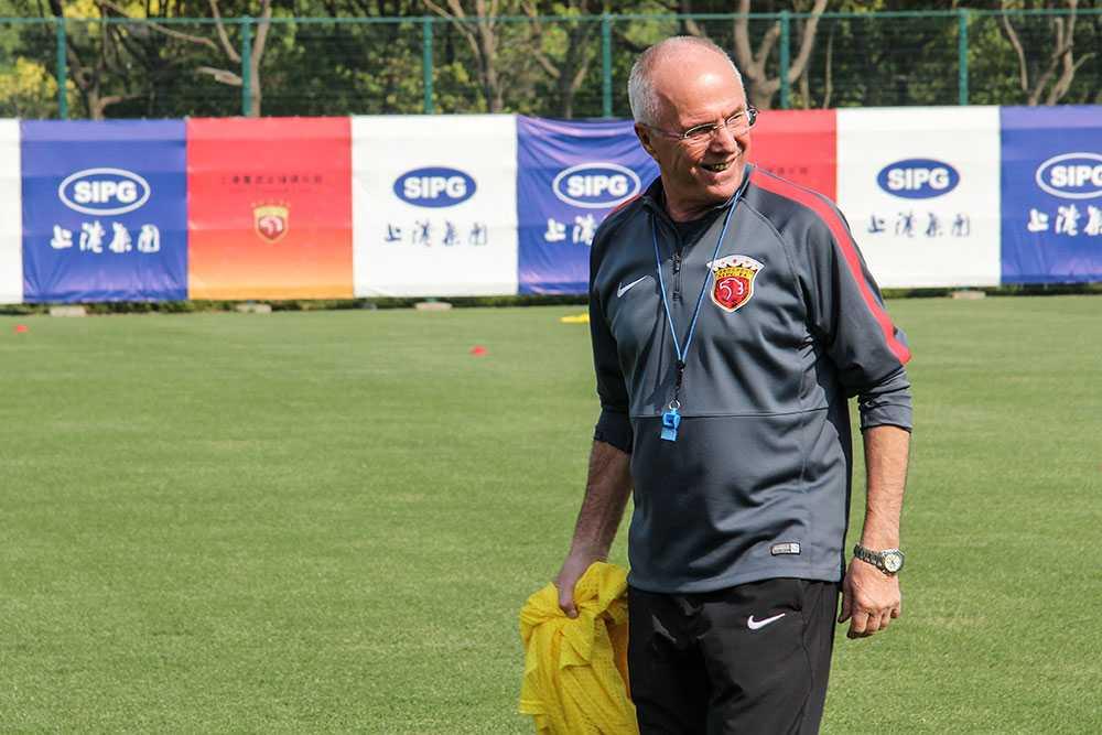 Sven-Göran Eriksson i Shanghai SIPG
