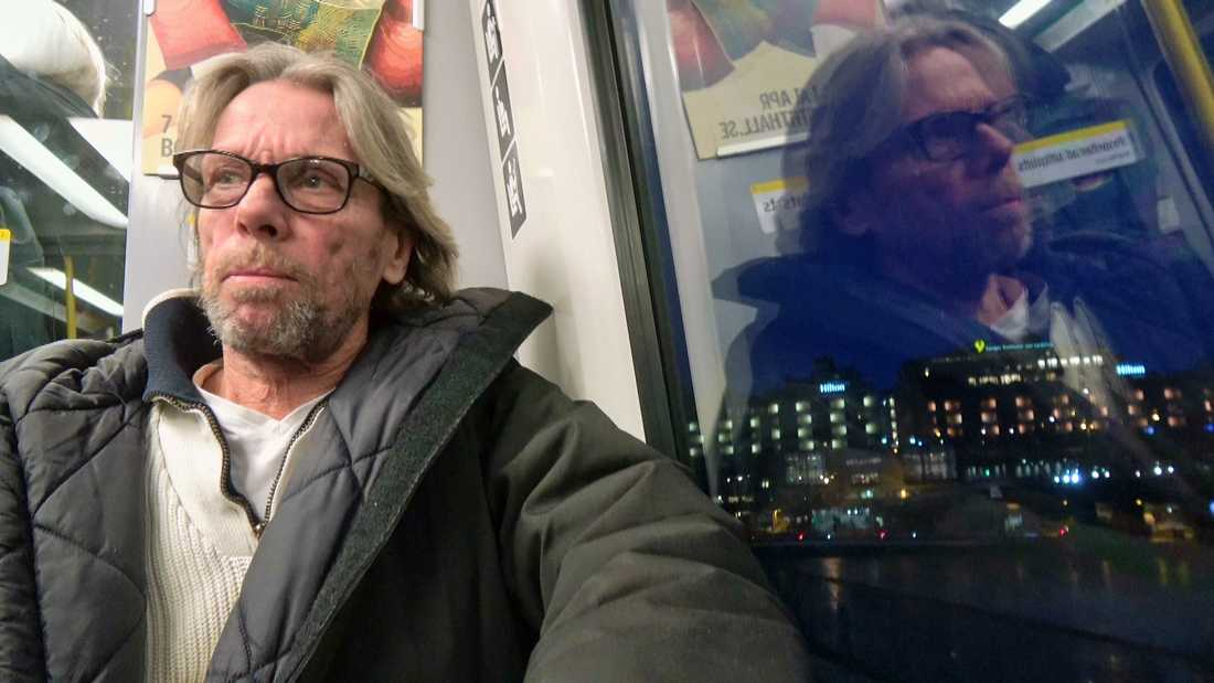 """Hemlöse Anders i SVT:s serie """"36 dagar på gatan""""."""