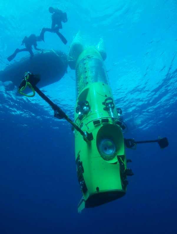 Provdyk med Deepsea Challenger.