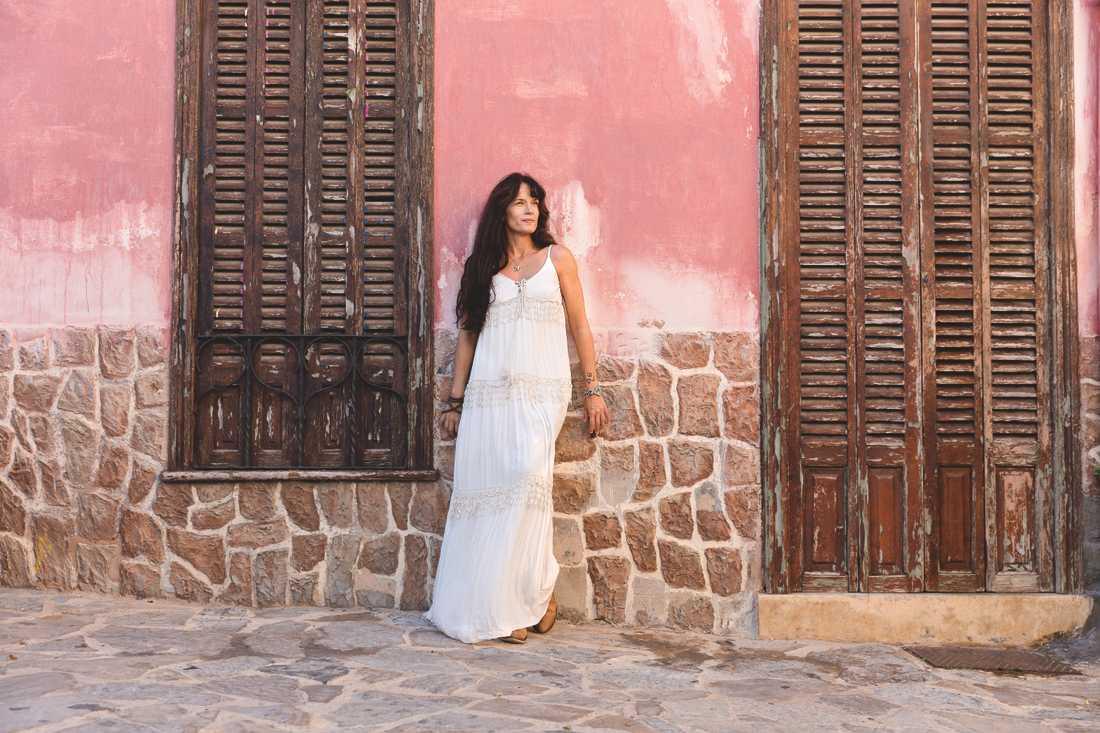 Malin Berghagen på Mallorca.
