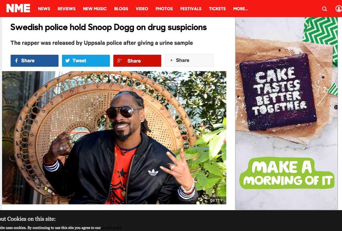 NME Swedish police hold Snoop Dogg on drug suspicions