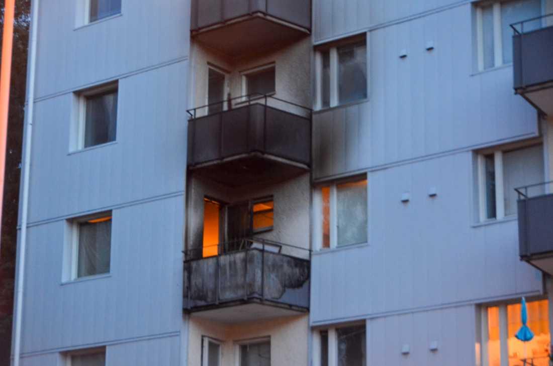 En lägenhet har brunnit i Kortedala, Göteborg.