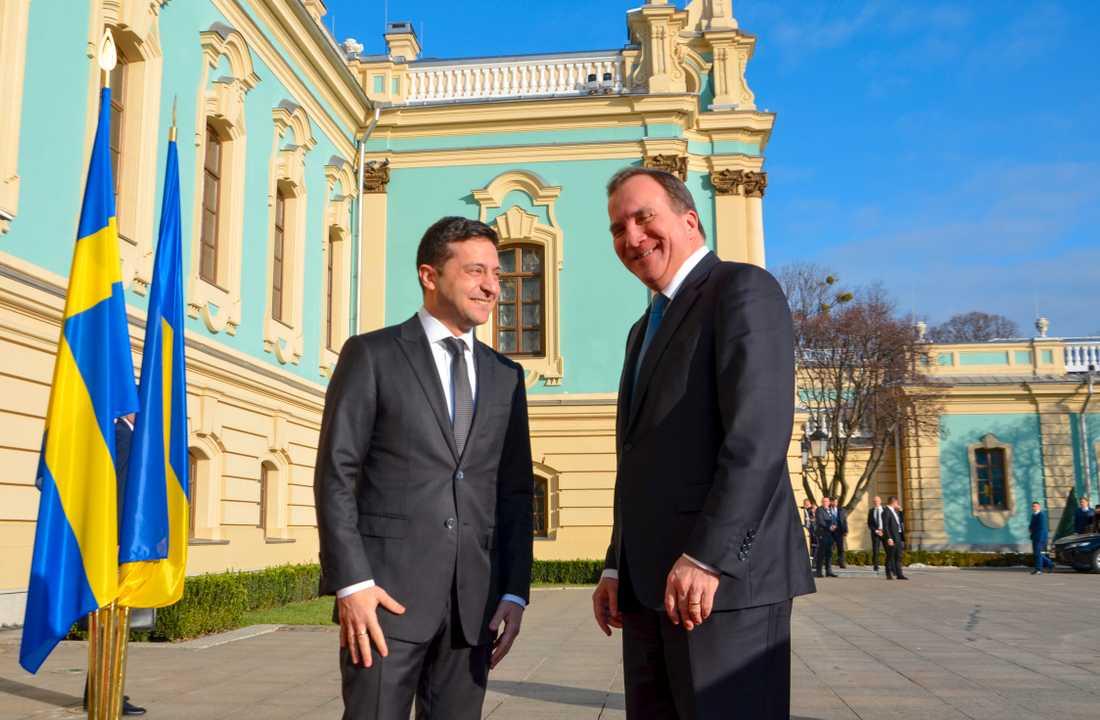 Statsminister Stefan Löfven (S) och Ukrainas president Volodymyr Zelenskyj träffades i Kiev för att bland annat diskutera reformarbete och konflikten i östra Ukraina.