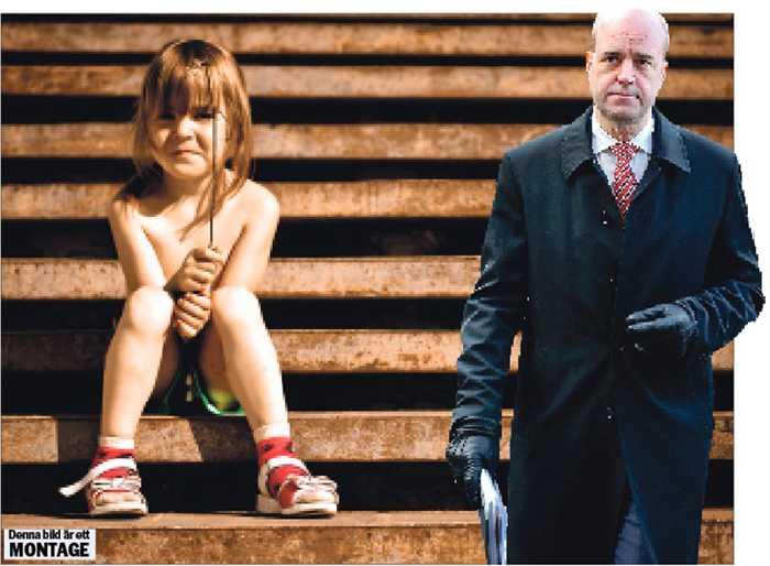 Hundratusentals drabbade Fredrik Reinfeldt valde barnfattigdom när han bland annat valde att ersätta utbildning och kompetensutveckling med krav på arbetslösa att söka jobb som inte finns. OBS! Bilden är ett montage.
