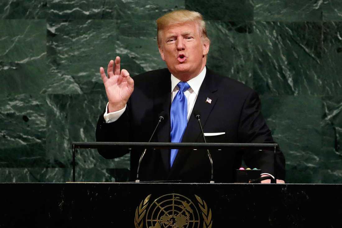 Trump tar upp Sydkinesiska sjön i ett tal i FN. Arkivbild.