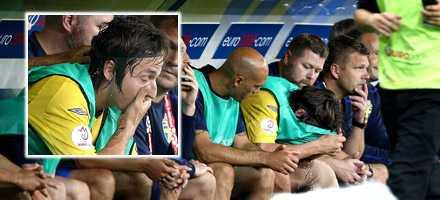 Trött och med allt blod i musklerna drack Zlatan en massa vatten – vilket direkt straffade sig.