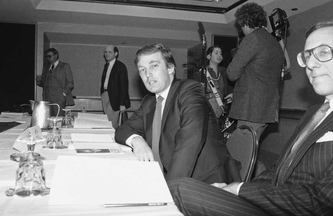 En ung Donald Trump.
