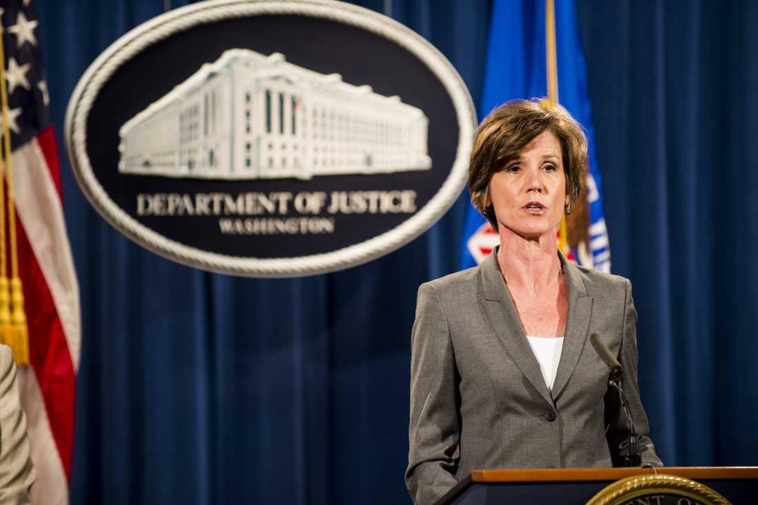 USA:s tillförordnade justitieminister Sally Yates.