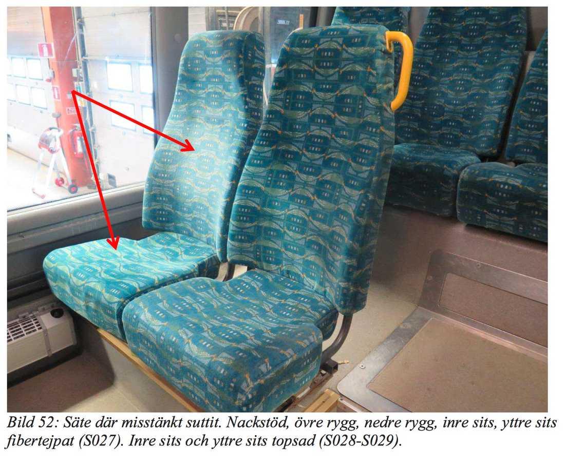 Akilov ska efter Arlanda Express ha tagit en buss där han satt på det här sätet.