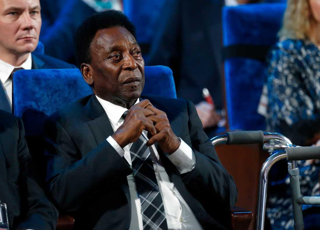 Den brasilianska fotbollslegendaren Pelé fördes till sjukhus med misstänkt utmattningssyndrom. Arkivbild.