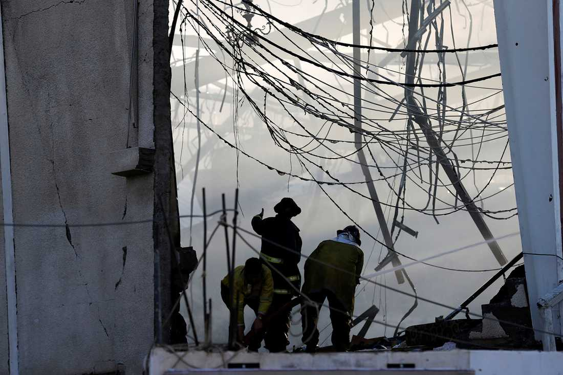 Jemens huvudstad Sanaa efter flyganfallet mot en begravning.