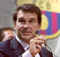 på jakt Barcelonas president Joan Laporta vill ha Besiktas tolvårige talang Muhammed Demirci.