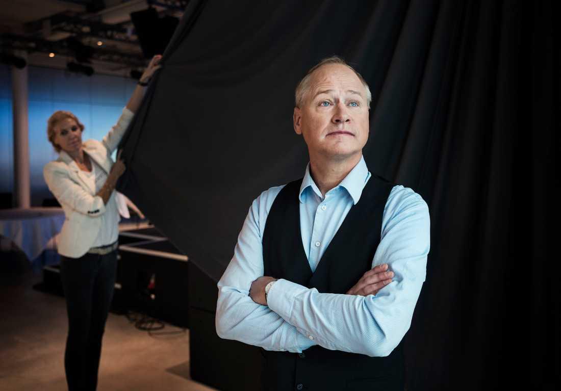 Robert Gustafsson under Discovery Network Swedens höstpresentation.
