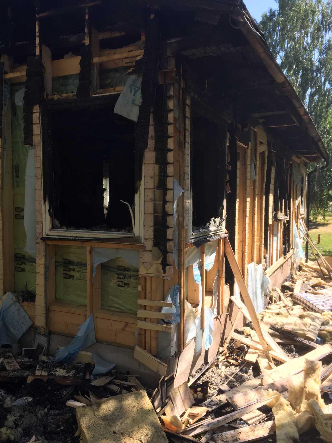 Ingen kom till skada under branden.