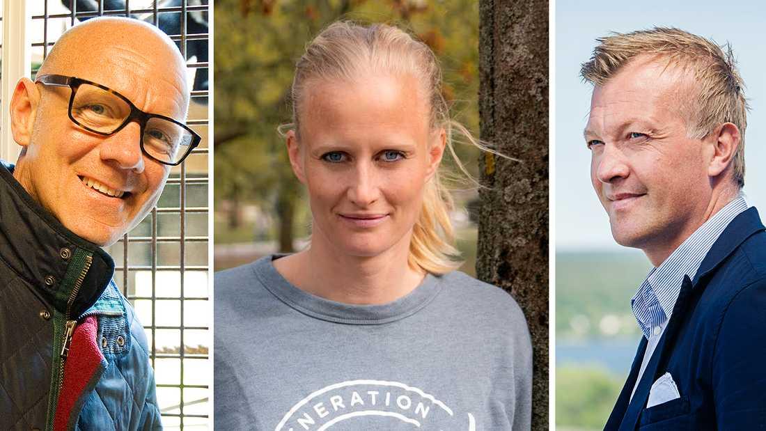 """Tony Rickardsson, Carolina Klüft och Magnus Hedman är tre av de totalt åtta deltagarna i """"Superstars"""" 2021."""