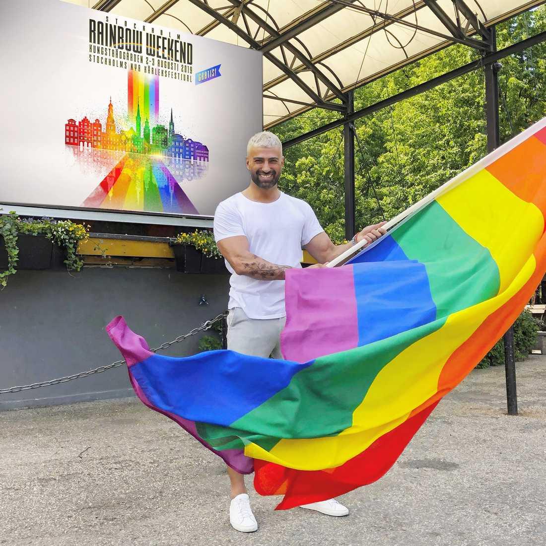 Navid Kabiri, festivalgeneral för Rainbow Weekend 2019