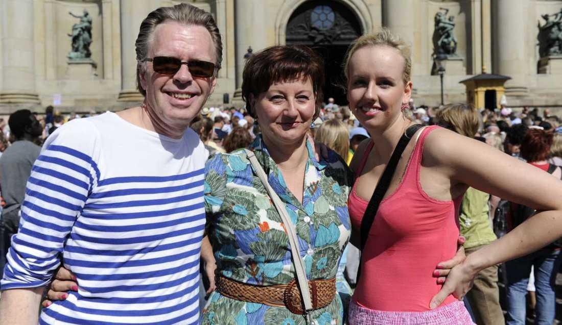 Nelly Jonsson, 49, från Örnsköldsvik var på plats på Slottsbacken tillsammans maken Bertil Lindh, 60, och dottern Isadora Jonsson, 22.