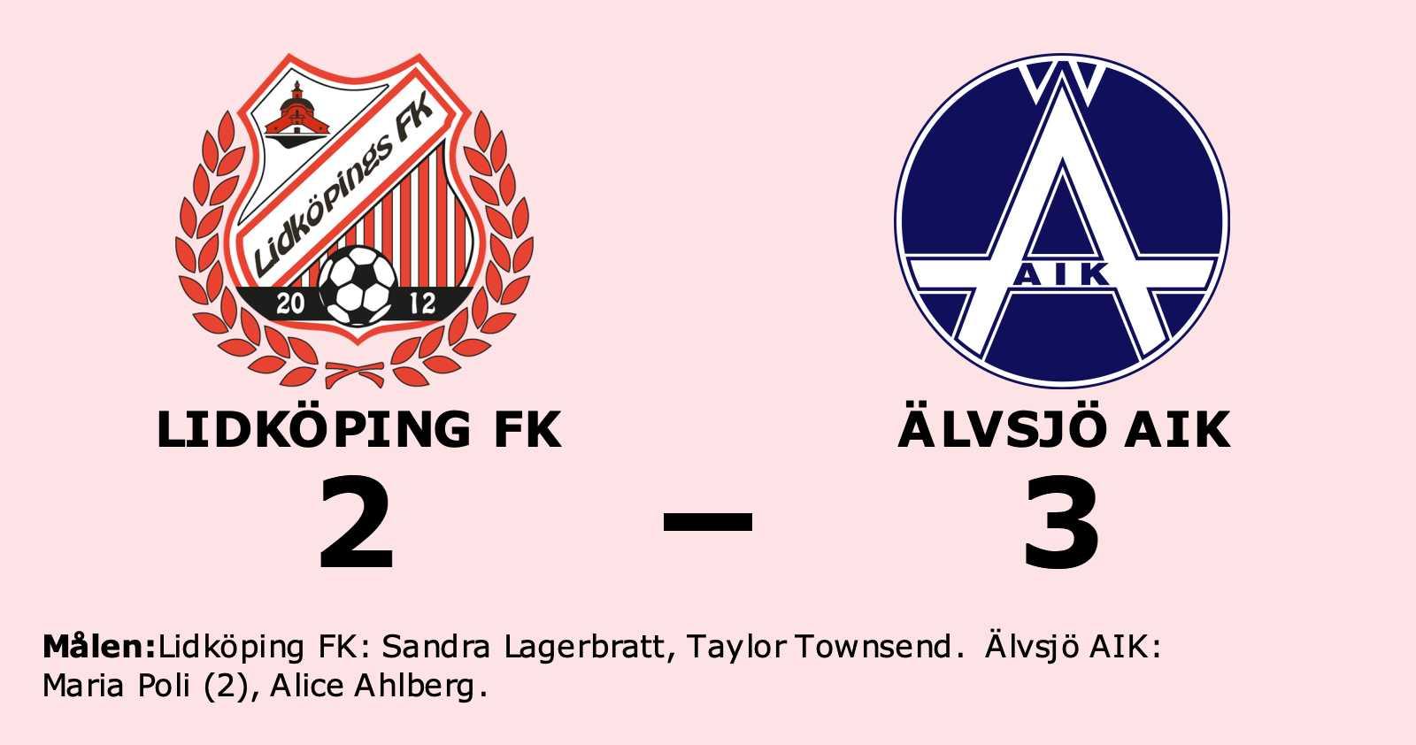 Älvsjö AIK vann mot Lidköping FK – trots underläge i halvtid