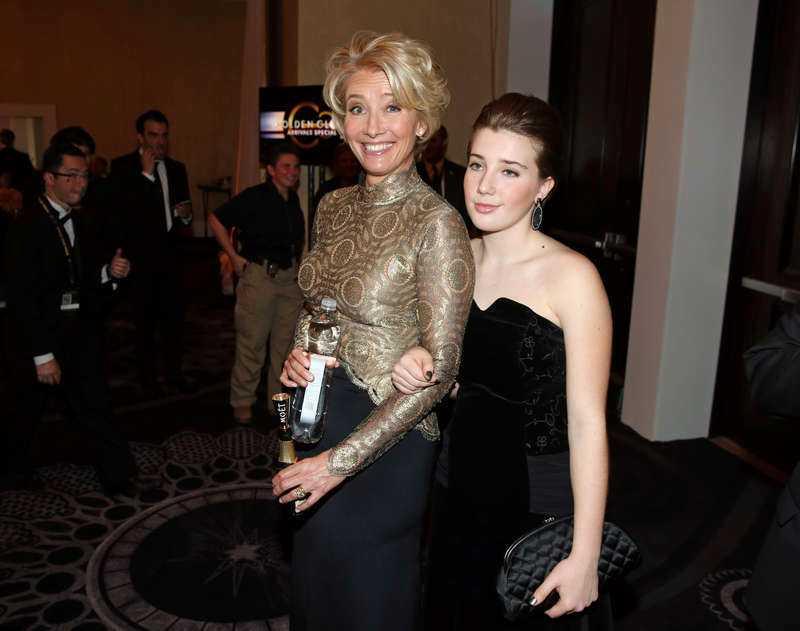 Emma Thompson och dottern Gaia Wise.