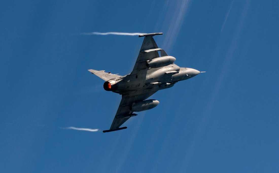 The Antipode ska kunna nå en maxhastighet på Mach 24, att jämföra med JAS Gripen (bilden) som har en maxhastighet på Mach 2.