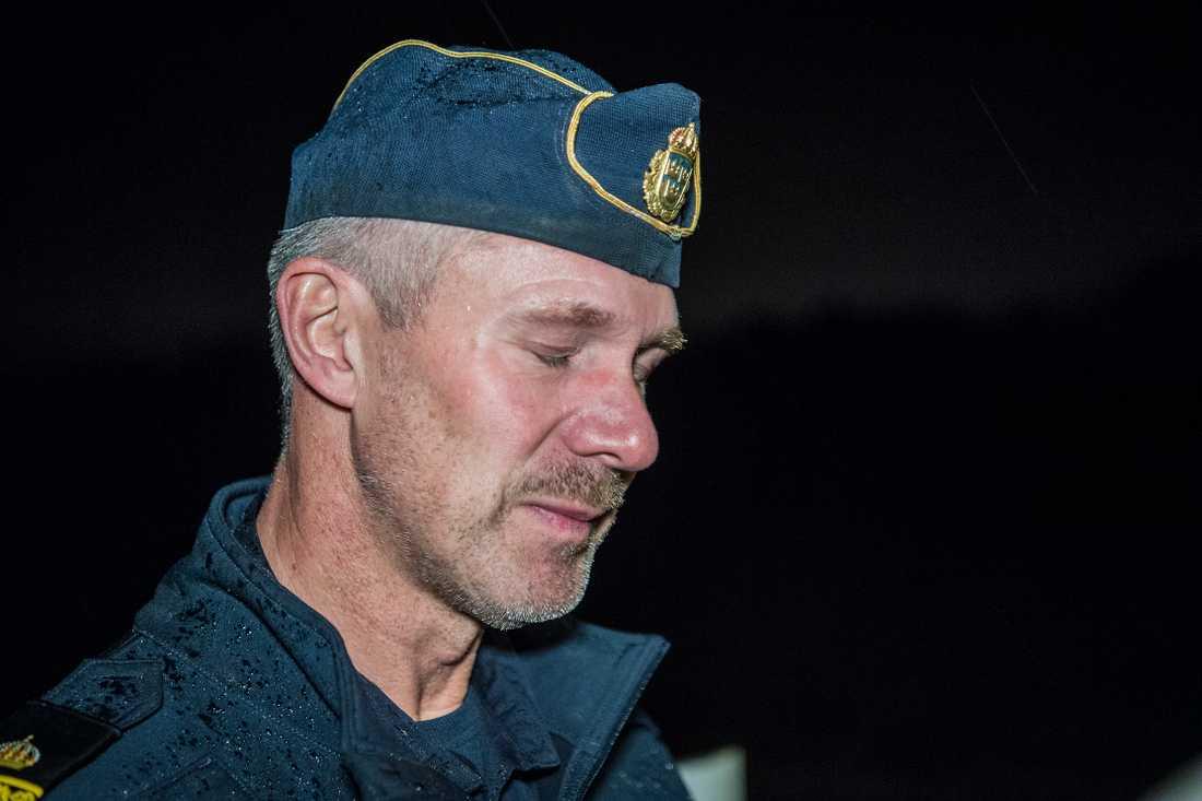 Christer Bartholdsson, 54, lokalpolisområdeschef i Falkenberg efter att ha berättat om fyndet tidigare under eftermiddagen.