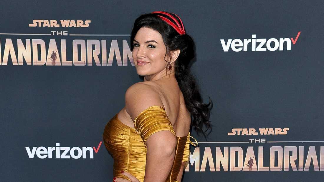 """Gina Carano på """"The Mandalorian""""-premiär i Los Angeles. Arkivbild."""