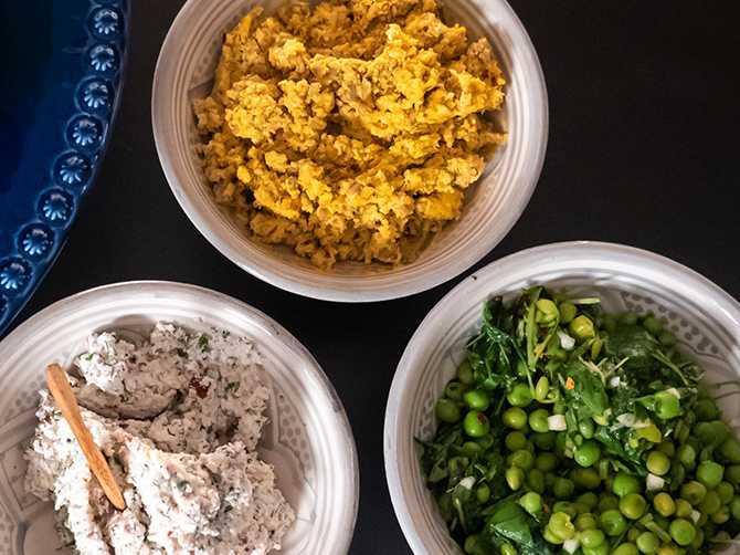 Chuncky ärtröra till kött, kyckling och grönsaker.
